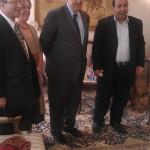 مع الدكتور أياد علاوي والست ميسون الدملوجي والدكتور مجيد الخطيب في لندن