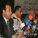 مع أحمد البراك في مؤتمر حركة المجتمع الديمقراطي عام 2005