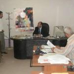 خلال زيارته لجريدة الصباح: حميد الكفائي: التيار الكهربائي لا يميز بين السني والشيعي عند إنقطاعه