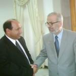 مع رئيس مجلس الحكم الدكتور محسن عبد الحميد